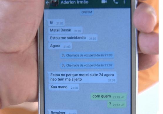mensagem-celular-555x390 Homem que matou Secretária de Educação de Boa Vista contatou irmão após o crime