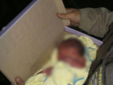 Bebê-desfocado Recém-nascida é encontrada morta em caixa de sapato no lixão em Monteiro