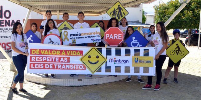 Sinal verde para um trânsito seguro. Conheça as ações do Maio Amarelo em Monteiro