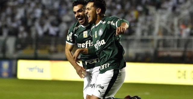 Palmeiras se impõe, goleia Santos no Pacaembu