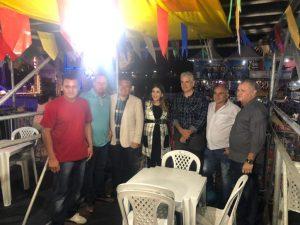 003-40 Vereadores de Monteiro prestigiam abertura do São João e entrega de obras ao lado da prefeita Lorena