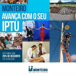 IPTU-2019 Prefeitura de Monteiro prorroga prazo para pagamento do IPTU 2019