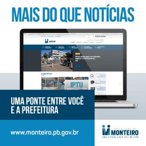 site Prefeitura de Monteiro adota novo sistema para consulta de contracheque, confira