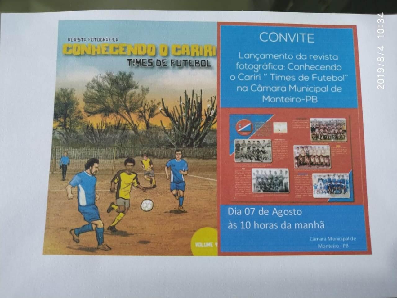 1-1-520x390 Câmara Municipal de Monteiro recebe lançamento da revista fotográfica CONHECENDO O CARIRI- TIMES DE FUTEBOL