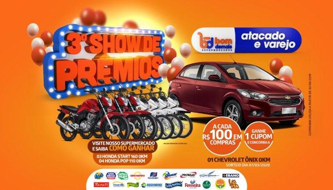 Bom-Demais-Supermercados-lançará-3°-Show-de-Prêmios-685x390 Bom Demais Supermercados lançará no próximo sábado 3° Show de Prêmios