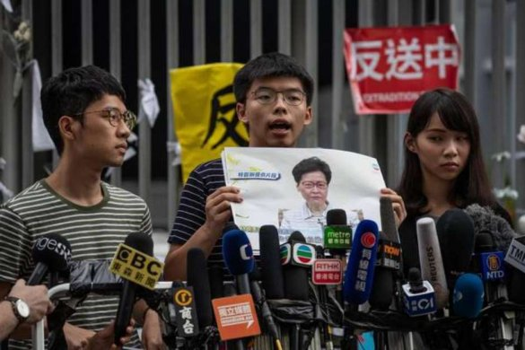 c4fd4b70e5fa91aadef8b9203b39533d-1-585x390 Líder de protestos em Hong Kong é preso novamente