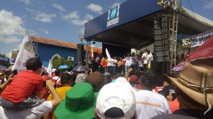 """evento-693x390 Poucas pessoas comparecem ao ato do """"SOS Transposição"""" em Monteiro"""