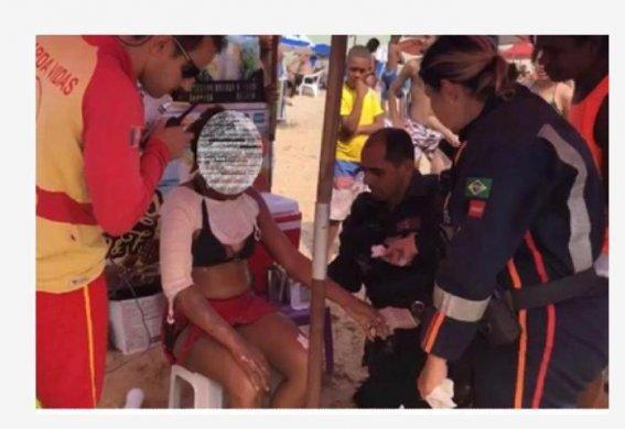 f3401a55-6afc-4e52-ae63-b0a34880cb30-567x390 Mulher fica ferida por explosão de celular na orla de João Pessoa
