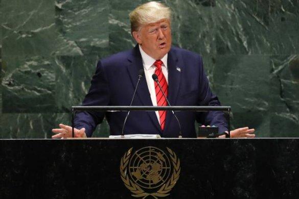 trump-on-585x390 'Todas as nações têm o dever de agir' contra o Irã, diz Trump na ONU
