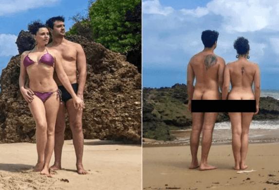 NUDESS-1-573x390 NUDES: Ex-Chiquititas posa pelada em praia de nudismo da Paraíba