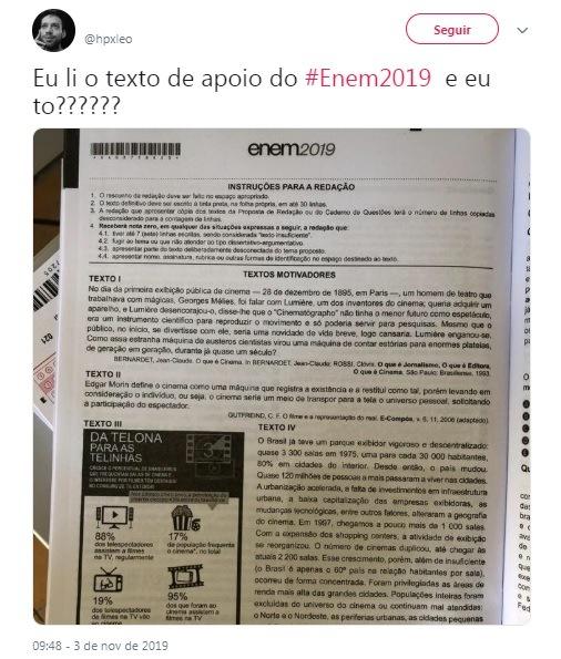 ENEM-2 Prova do Enem vaza na internet antes da hora permitida