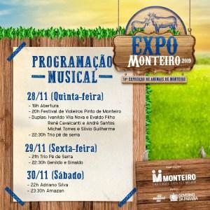 Expo-Monteiro Festival de Violeiros Pinto de Monteiro é atração da primeira noite da Expo Monteiro