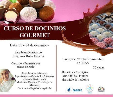 curso-de-docinho-gourmet-466x400 Prefeitura Municipal de Zabelê, promove curso de Docinhos Gourmet