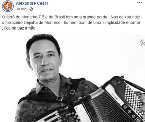 """inter-1-475x400 Internautas lamentam morte do cantor Dejinha de Monteiro """"A cultura está de luto"""""""