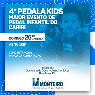 PEDALA-MONTEIRO-400x400 4º Pedala Kids acontece dia 26 de janeiro e promete movimentar o centro de Monteiro