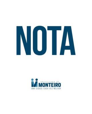 nota-1-322x400 NOTA Armação dos peixes: A Prefeitura de Monteiro esclarece