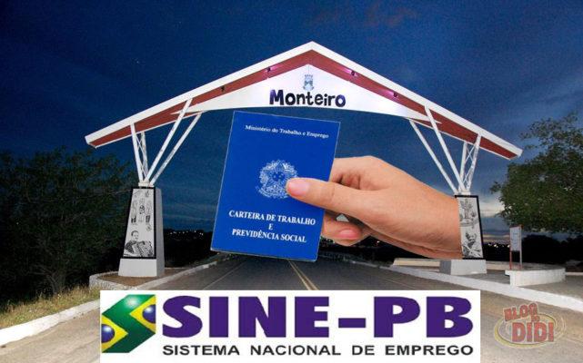 sineMontero-641x400 Sine Monteiro oferece oportunidades de vagas de empregos