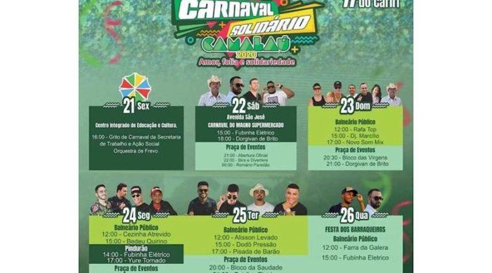 E0B497C3-D7F3-447A-8FE7-861133CE6832-800x445-1-700x389 Prefeitura de Camalaú divulga programação completa do Carnaval Solidário 2020 e destaca estrutura do evento