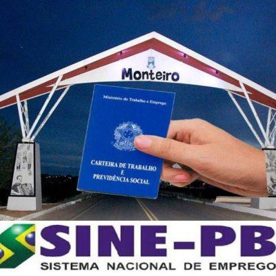 SINE-mONTEIRO-400x400 SINE Monteiro oferece vaga de emprego; Confira