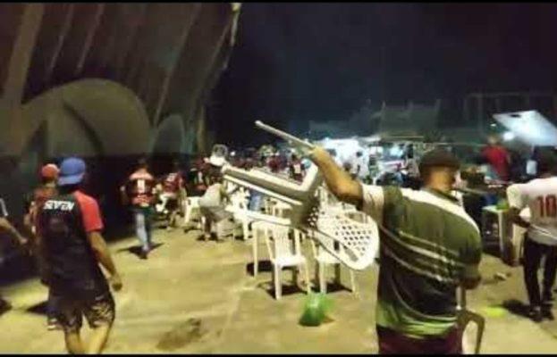 confusao-jogo-623x400 Torcedores do Campinense e Atlético-MG promovem quebra-quebra no Amigão;Veja vídeo