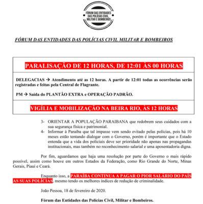 seg2-398x400 Fórum de Segurança anuncia paralisação de policiais e bombeiros da PB nesta quarta