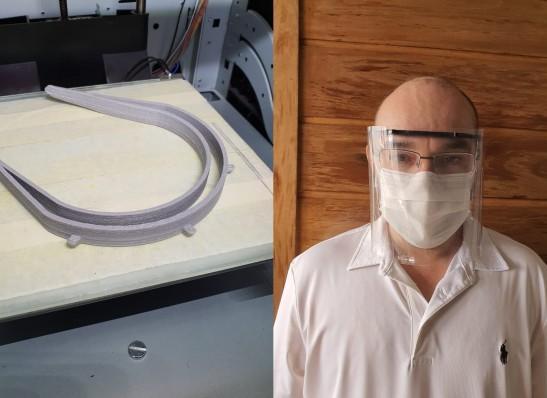 mascaras UFCG em Sumé produz viseiras de proteção individual para profissionais de saúde