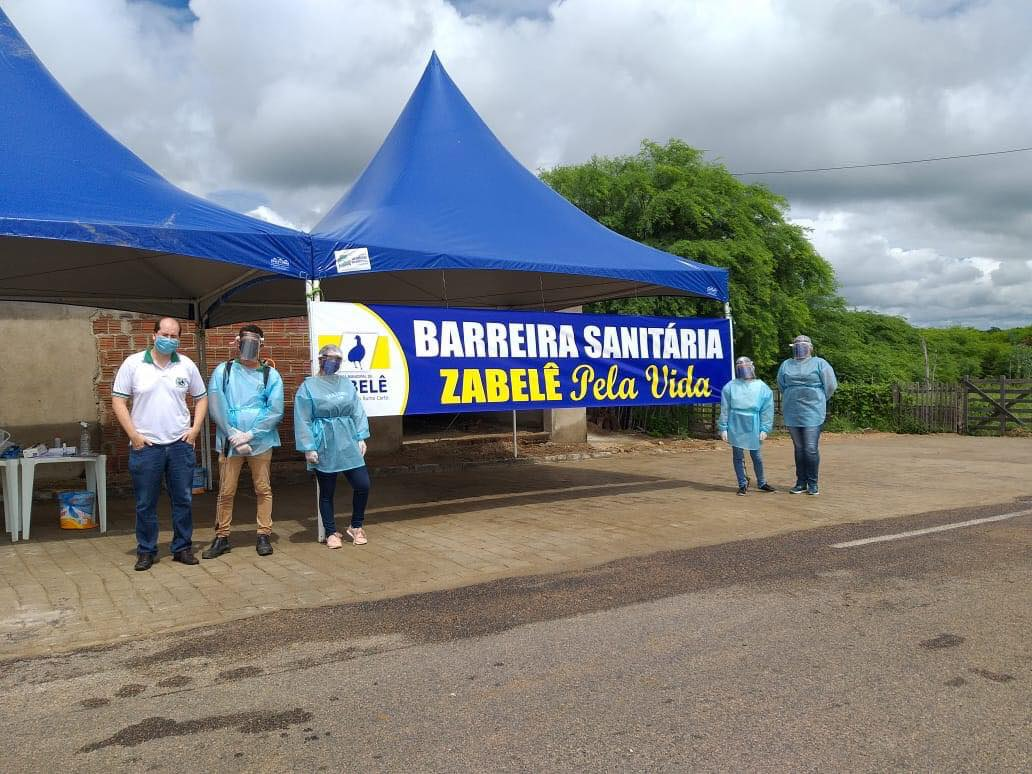 95175959_1613667185462220_3023137504384516096_o Prefeitura de Zabelê instala barreira sanitária para prevenção do coronavírus