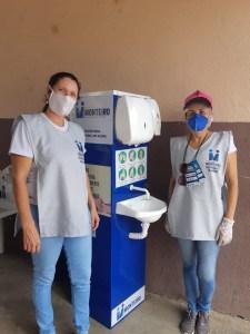 monteiro Prefeitura de Monteiro disponibiliza lavatórios de mãos em pontos estratégicos da feira livre