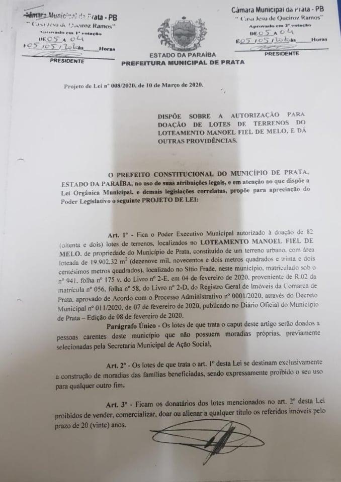 01-3 FAKE NEWS: Vereadores da oposição da Prata, rebatem matéria divulgada por portal de notícias da cidade