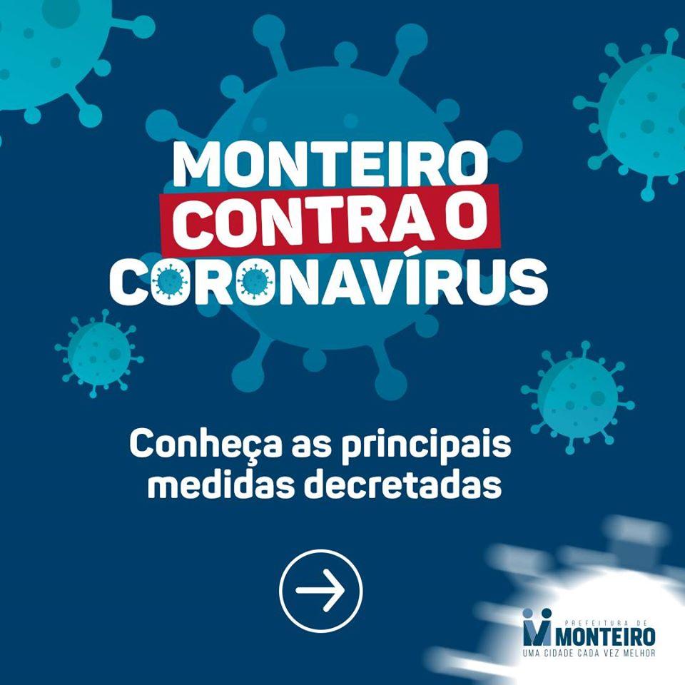 1-1 Monteiro contra o Covid-19 conheça as principais medidas decretadas