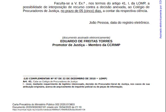 2 Ministério Público arquiva procedimento contra o prefeito de São Sebastião do Umbuzeiro