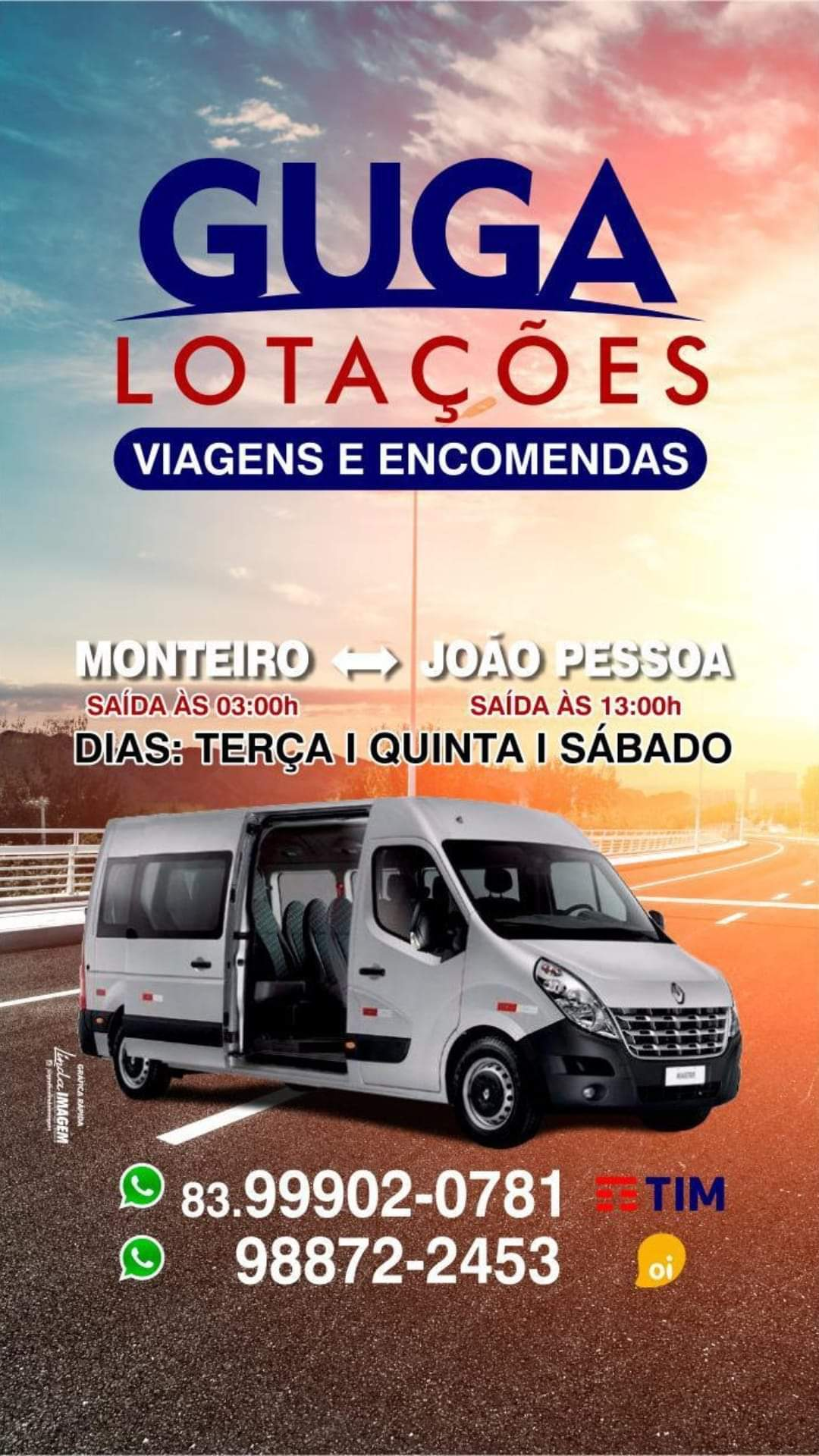 FB_IMG_1588339730201 GUGA Viagens Lotações e Turismo e encomendas para João Pessoa