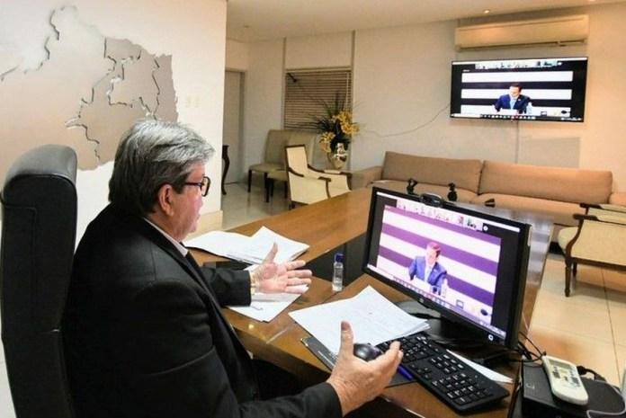 JOAO-AZ Governador João Azevêdo faz live nesta segunda-feira para falar das ações contra o coronavírus na PB