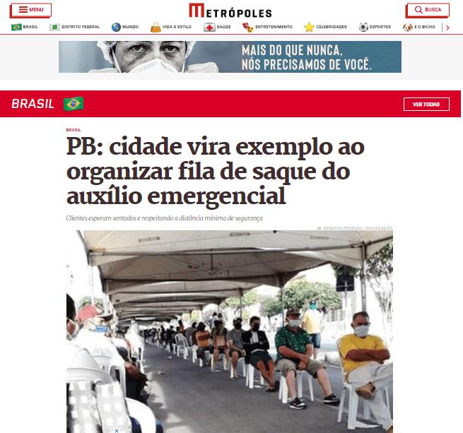 Metropoles Monteiro ganha destaque nacional com medidas contra coronavírus