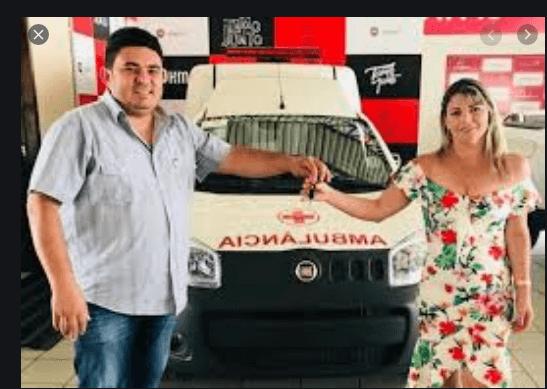 ambu-celio Prefeito Célio assina convênio e município de São João do Tigre adquire mais uma nova ambulância