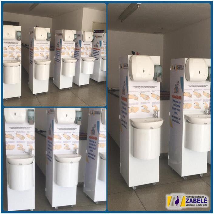 zabele-lavatorios Coronavírus: Prefeitura de Zabelê instala lavatórios de mãos em locais estratégicos