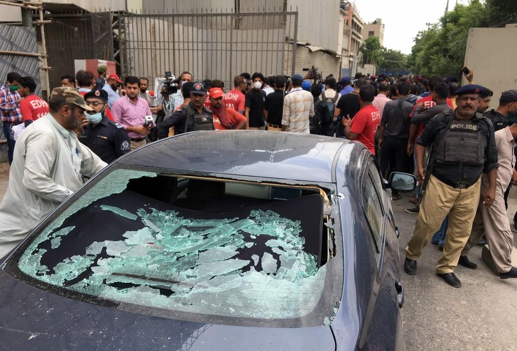 ATAQUES Ataque a prédio da bolsa de valores do Paquistão deixa mortos