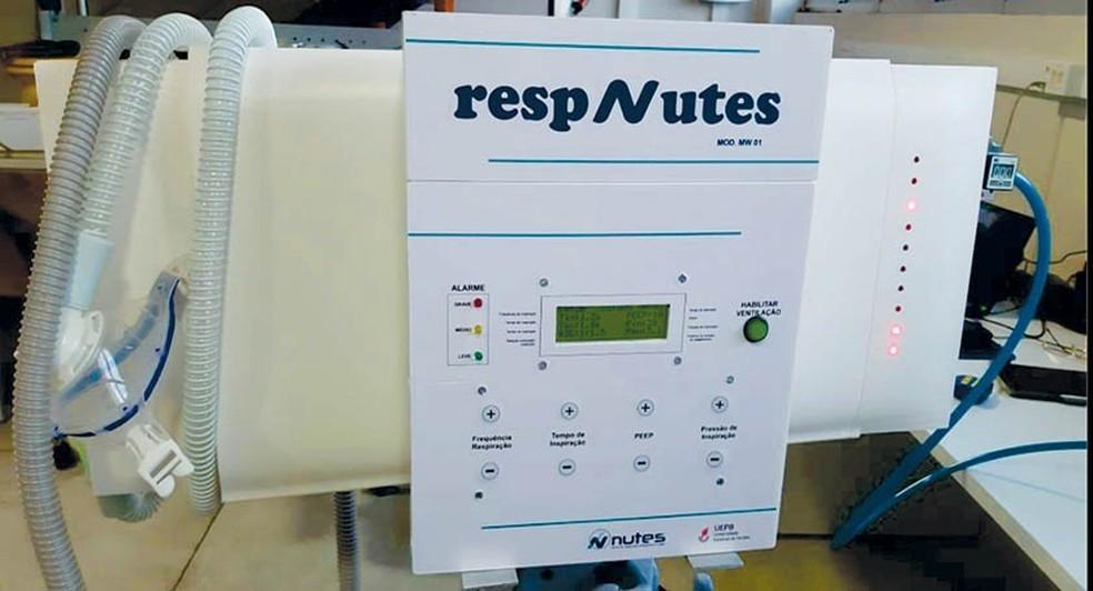 respirador-uepb UEPB solicita patente de respirador que controla o fluxo de ar do paciente