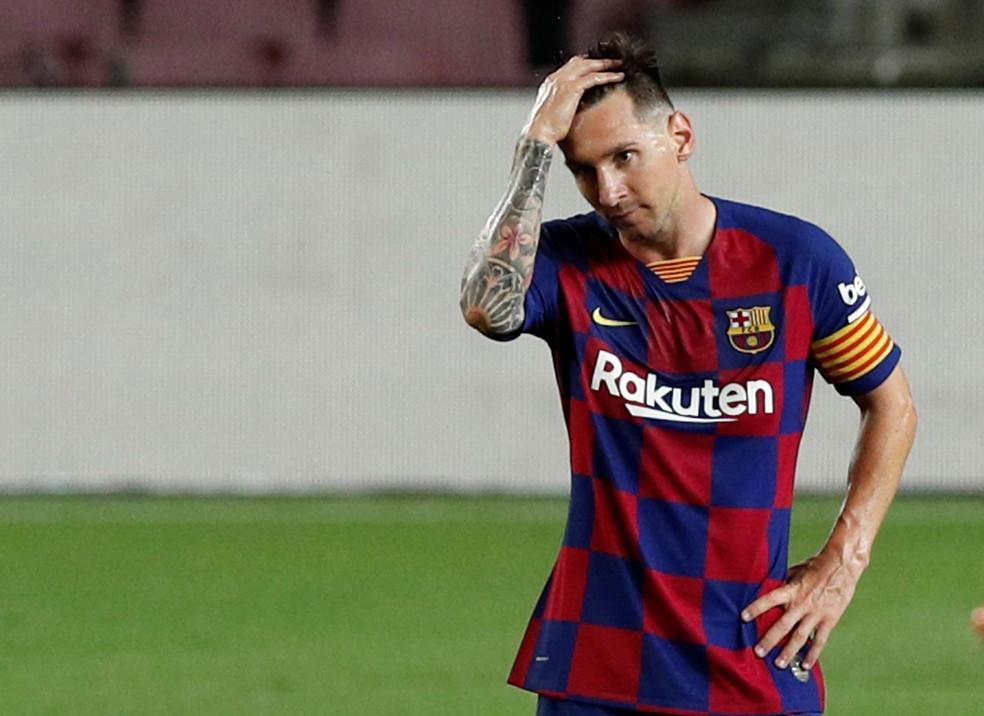 MESSI Messi paralisa negociações por renovação e considera deixar o Barcelona em 2021, diz rádio