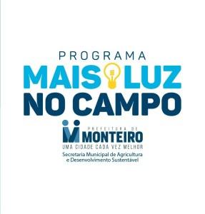 """luz Programa """"Mais Luz no Campo"""" atende 870 famílias na zona rural de Monteiro"""