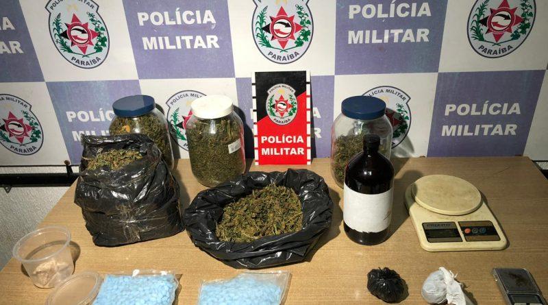 DROGAS-1 Polícia Militar apreende drogas sintéticas e maconha em apartamento na PB