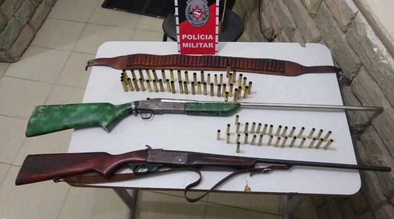 armas-1 Operação Cidade Segura apreende 5 armas de fogo