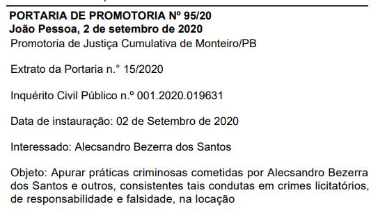 image Prefeito de Camalaú que foi preso em operação do Gaeco entra na mira do MP por fraudes licitatórias
