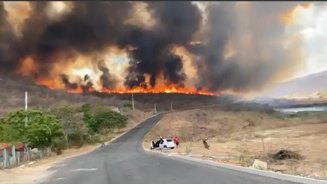 IMG_20201012_114648 Incêndio na zona rural de Sertânia segue sem controle