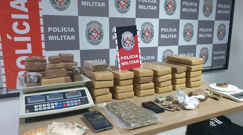PM-PB Polícia Militar desarticula ponto de distribuição do tráfico e apreende 20 kg de drogas na Capital