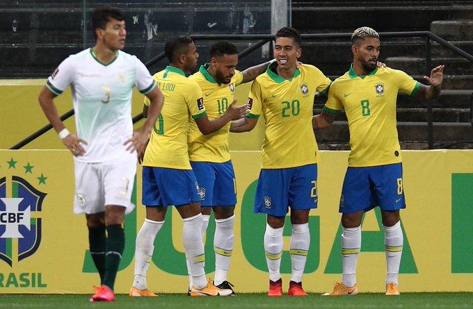 SELECAO-BRASIL Seleção estreia nas Eliminatórias com goleada de 5 a 0 sobre a Bolívia