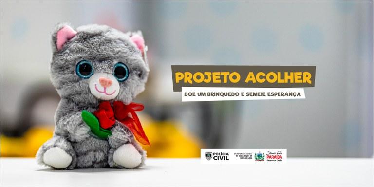 afd5b8d9-50f9-4d91-b841-01b72adf93f9 Polícia Civil inicia campanha para arrecadar brinquedos e beneficiar crianças vítimas de violência na PB
