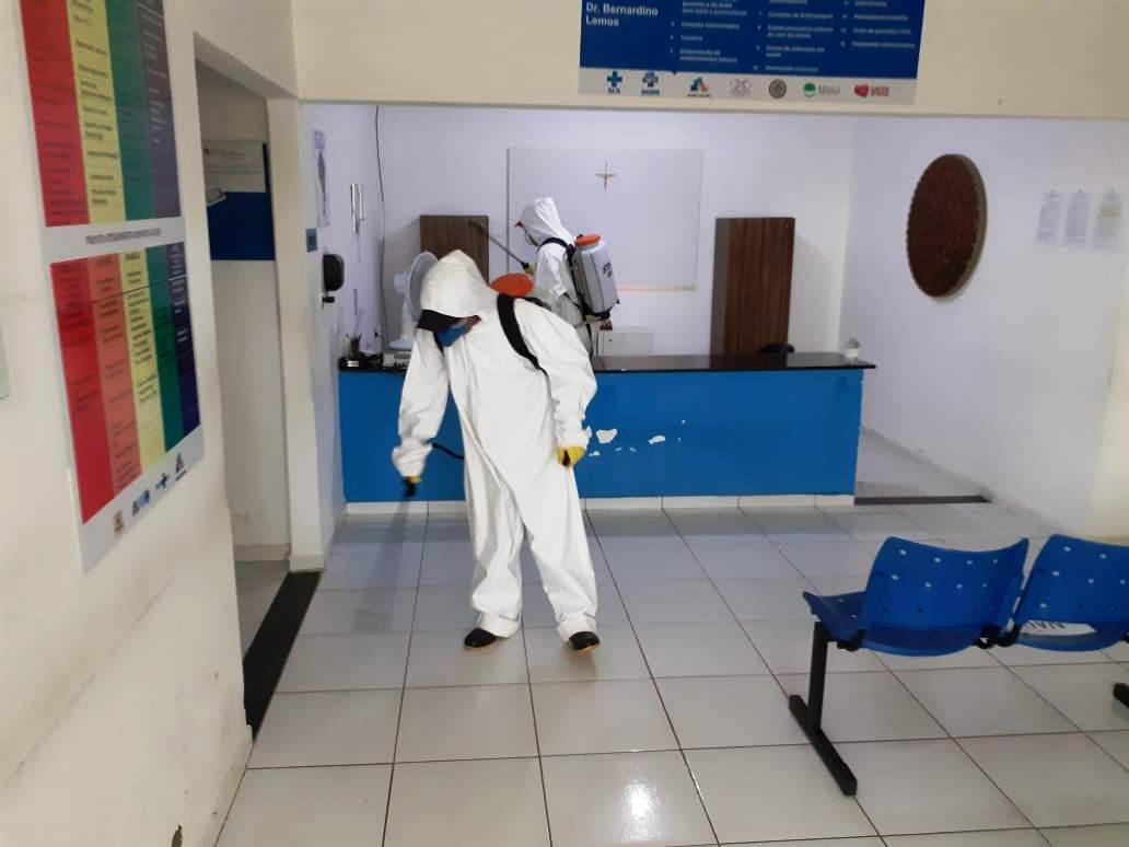 """Desinfeccao-de-Locais-publicos-12-1 Secretaria de Saúde reforça combate ao COVID-19 com o objetivo de evitar """"segunda onda"""""""