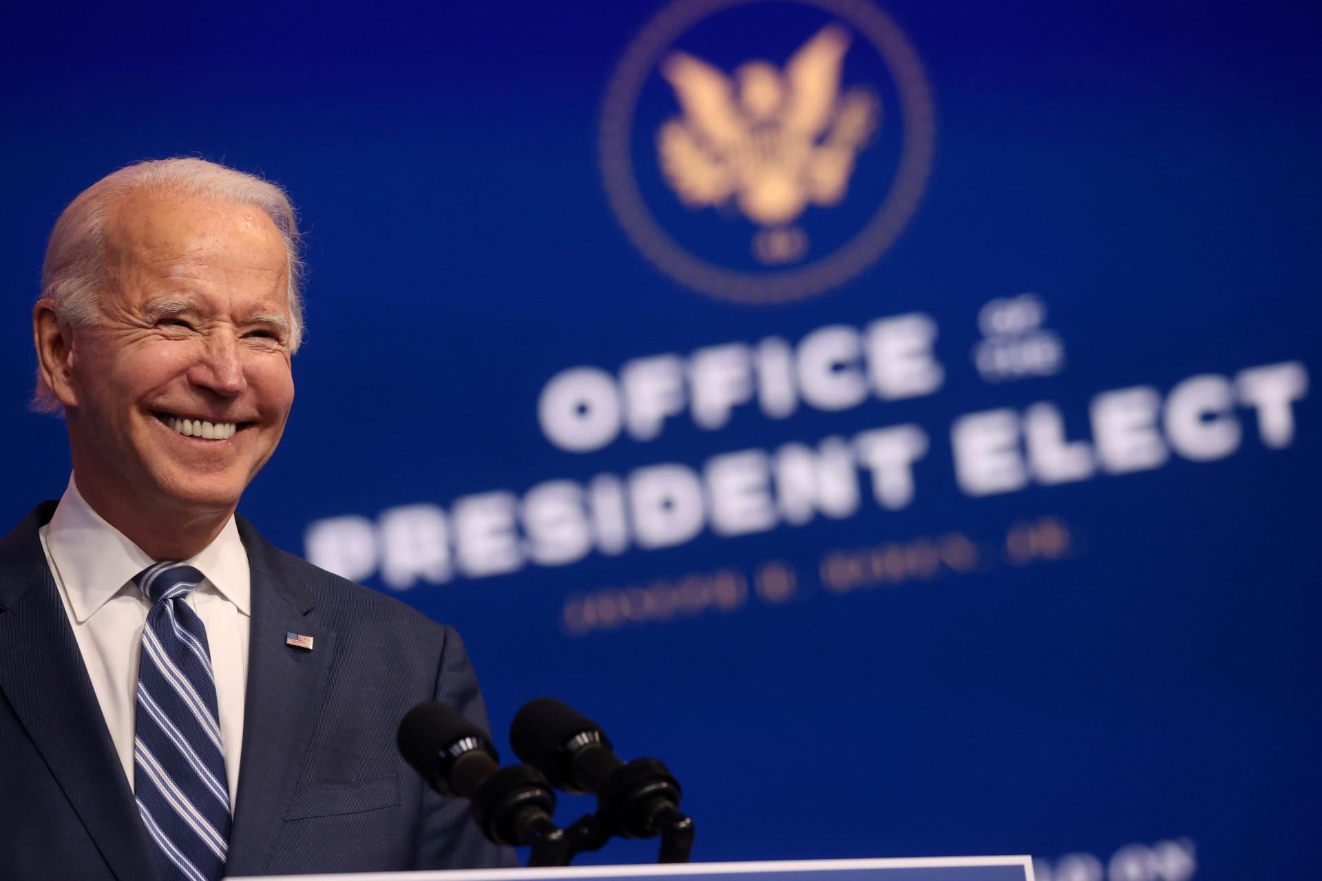 EUA-Joe-Biden China parabeniza o democrata Joe Biden por vitória nas eleições dos EUA