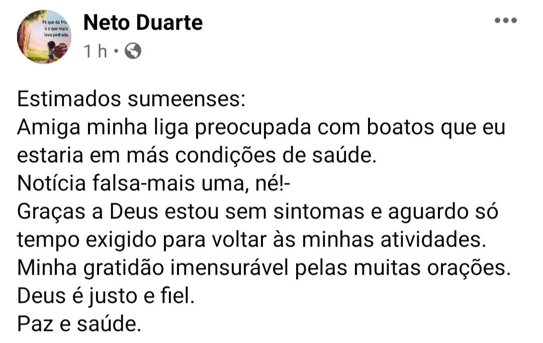 IMG_20201122_172329 Ex-prefeito de Sumé, Dr Neto testa positivo para covid-19